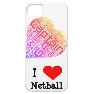I Love Netball Word Art Design iPhone SE/5/5s Case