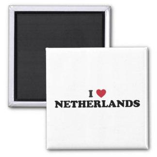 I Love Netherlands 2 Inch Square Magnet