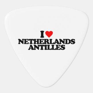 I LOVE NETHERLANDS ANTILLES GUITAR PICK