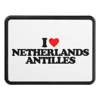 I LOVE NETHERLANDS ANTILLES TOW HITCH COVERS