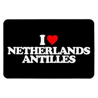 I LOVE NETHERLANDS ANTILLES RECTANGULAR MAGNETS
