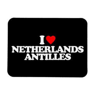 I LOVE NETHERLANDS ANTILLES RECTANGLE MAGNETS