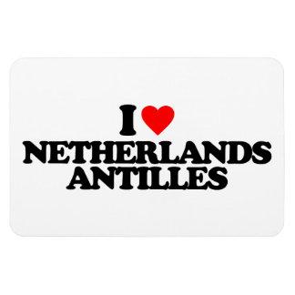 I LOVE NETHERLANDS ANTILLES VINYL MAGNETS