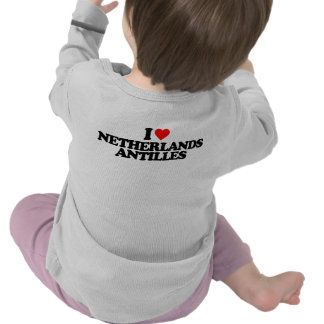 I LOVE NETHERLANDS ANTILLES T SHIRT