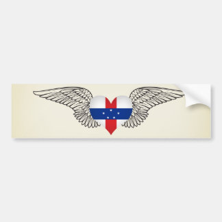 I Love Netherlands Antilles -wings Bumper Stickers