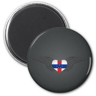 I Love Netherlands Antilles -wings Magnet