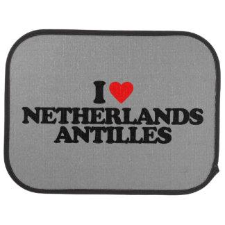 I LOVE NETHERLANDS ANTILLES CAR MAT