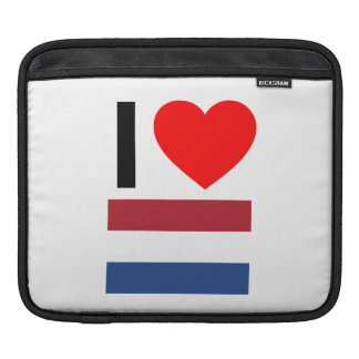 i love netherlands iPad sleeves