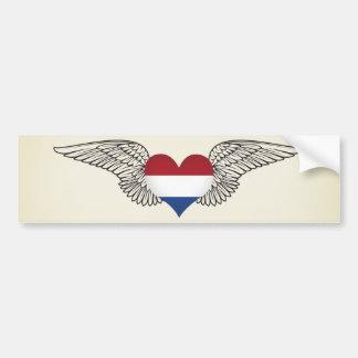 I Love Netherlands -wings Bumper Sticker