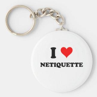 I Love Netiquette Keychain
