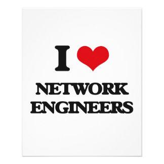 I love Network Engineers Flyer Design