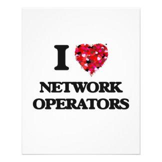 "I love Network Operators 4.5"" X 5.6"" Flyer"