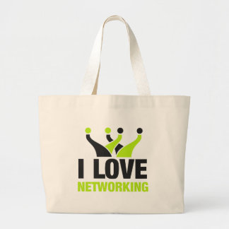 I Love Networking Large Tote Bag