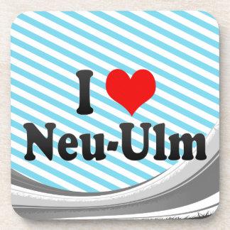I Love Neu-Ulm, Germany Beverage Coaster