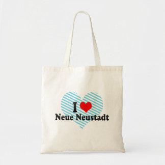 I Love Neue Neustadt, Germany Budget Tote Bag