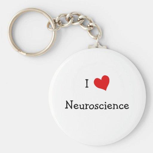 I Love Neuroscience Basic Round Button Keychain