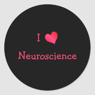 I Love Neuroscience Classic Round Sticker