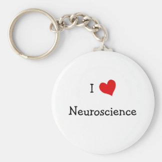 I Love Neuroscience Keychain