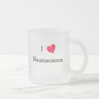 I Love Neuroscience 10 Oz Frosted Glass Coffee Mug