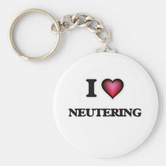 I Love Neutering Keychain