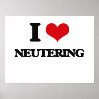I Love Neutering Poster