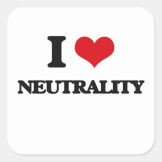 I Love Neutrality Square Sticker