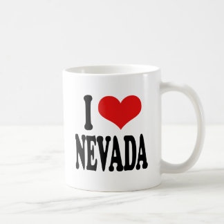 I Love Nevada Classic White Coffee Mug