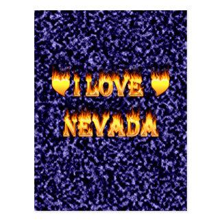 I love nevada fire and flames postcard