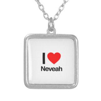 i love neveah square pendant necklace
