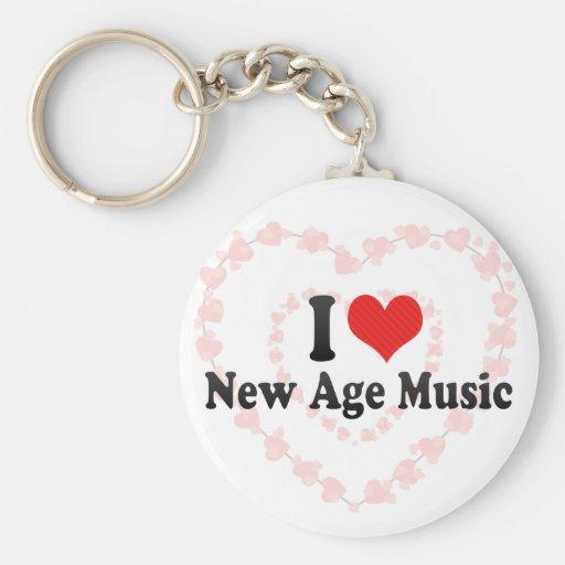 I Love New Age Music Basic Round Button Keychain