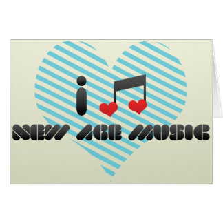 I Love New Age Music Greeting Cards