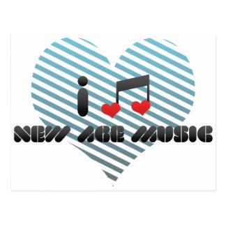 I Love New Age Music Postcard