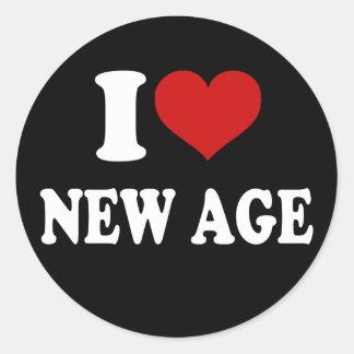 I Love New Age Round Sticker