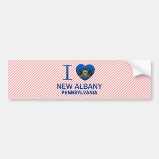 I Love New Albany, PA Bumper Sticker