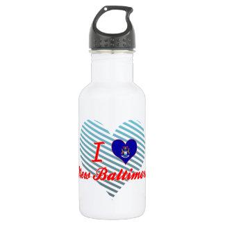 I Love New Baltimore, Michigan 18oz Water Bottle
