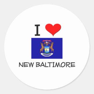 I Love New Baltimore Michigan Classic Round Sticker