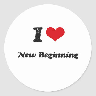I Love NEW BEGINNING Sticker