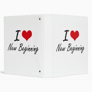I Love New Beginning Vinyl Binder