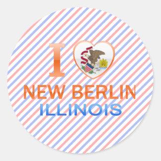 I Love New Berlin, IL Round Stickers