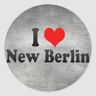 I Love New Berlin, United States Round Sticker
