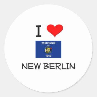 I Love New Berlin Wisconsin Round Sticker