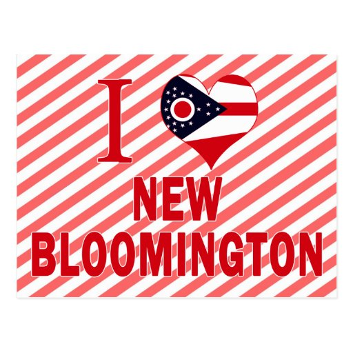 I love New Bloomington, Ohio Post Cards