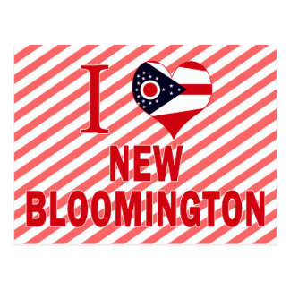I love New Bloomington, Ohio Postcard