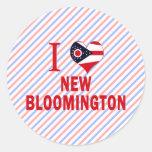 I love New Bloomington, Ohio Stickers