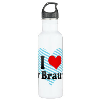 I Love New Braunfels, United States Stainless Steel Water Bottle