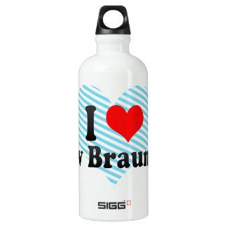 I Love New Braunfels, United States Water Bottle