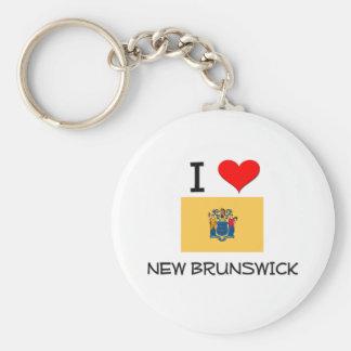 I Love New Brunswick New Jersey Basic Round Button Keychain
