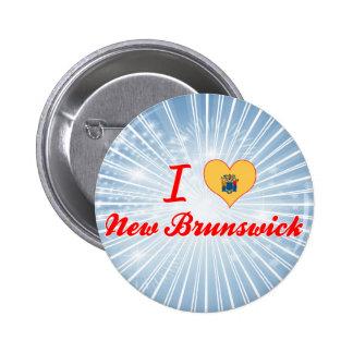 I Love New Brunswick New Jersey Pin