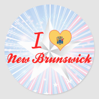 I Love New Brunswick, New Jersey Sticker