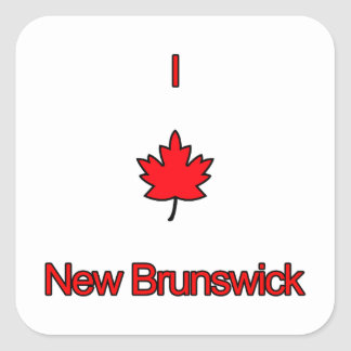 I Love New Brunswick Square Sticker